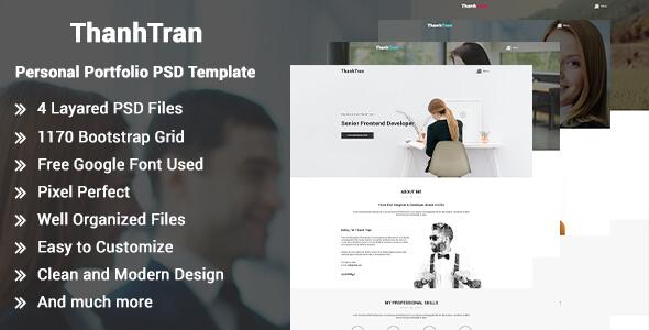 ThanhTran-Personal Portfolio PSD Template