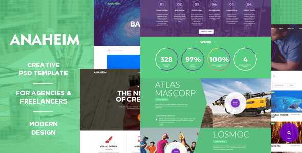 Anaheim | Creative PSD template for agencies