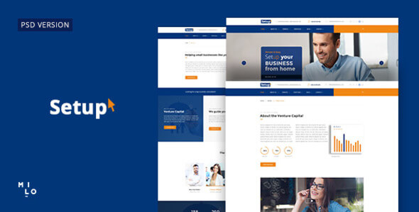Setup - Banking and Financial Services PSD Template