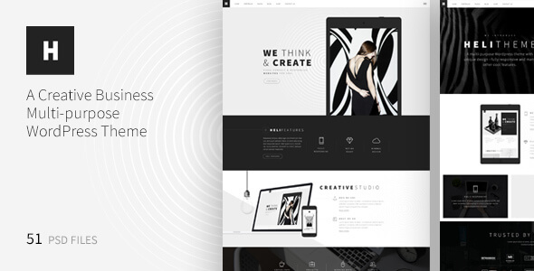Heli - A Creative Multipurpose PSD Template