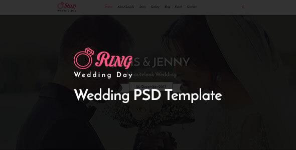 Ring Wedding Photography PSD Template