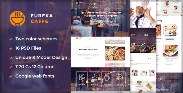 Eureka – Multipurpose PSD Template