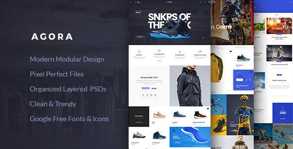 Agora – eCommerce PSD Template