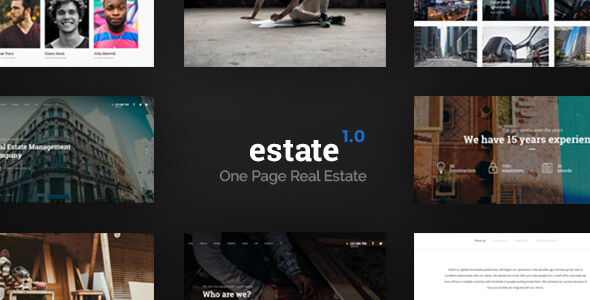 Estate - One Page Real Estate Template