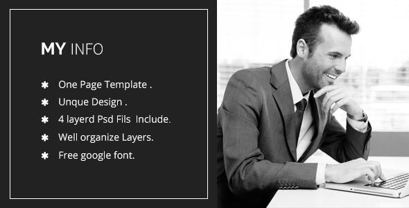 MyInfo - Cv/Resume psd Template