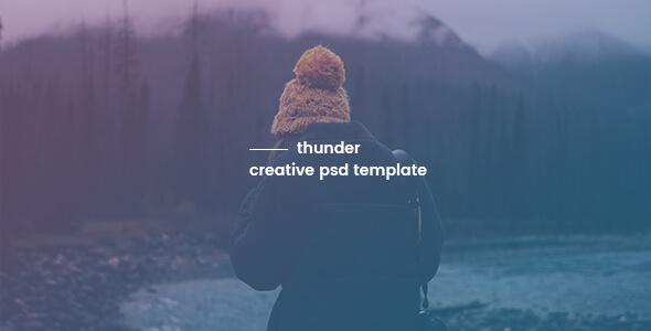 Thunder - Creative PSD Template