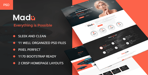 Madu | Creative Multi-Purpose PSD Template