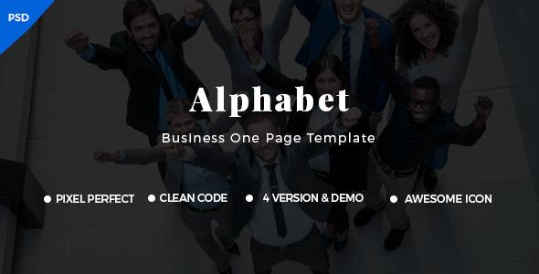 Alphabet - Business PSD Template