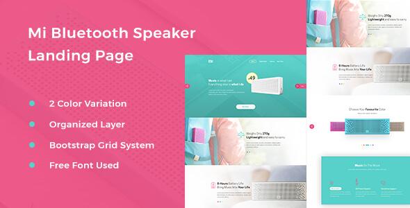 Mi Bluetooth Speaker - Landing Page