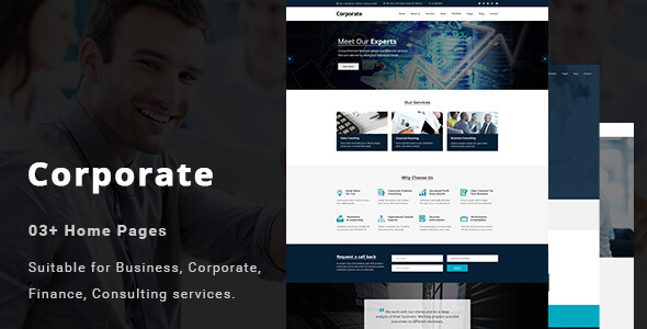 Corporate - Business and Professional Services PSD Template