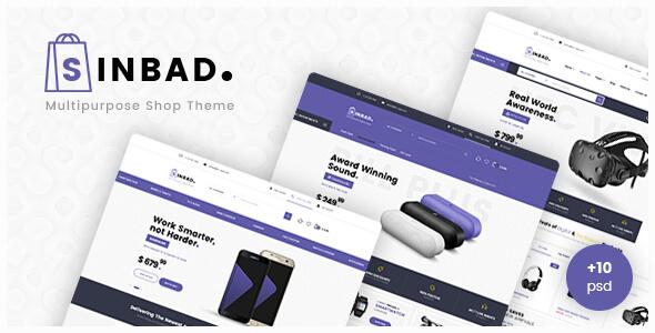 Sinbad - Electronics eCommerce PSD Template