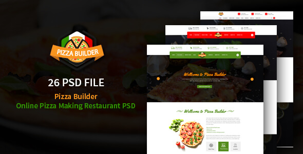Pizza Builder- Online Pizza Making Restaurant PSD