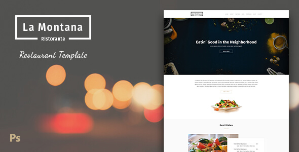 LaMontana - Restaurant PSD Template