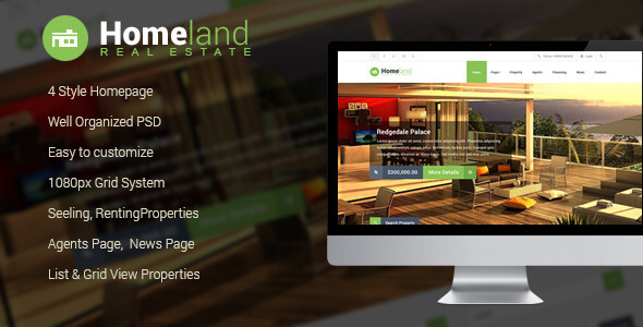 Homeland - Real Estate PSD Template