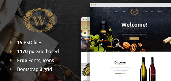 Best Wine - Wine and Winery PSD Template