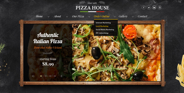 Pizzeria PSD Template