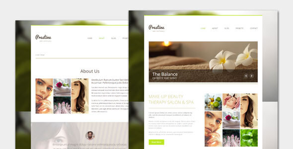 Prestine - Health Beauty Salon Spa WordPress Theme