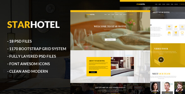 Star Hotel PSD Template