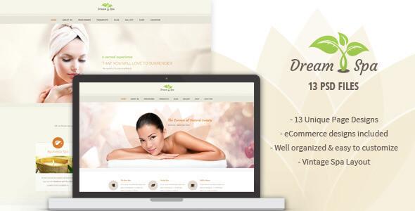 Dream Spa - Vintage Spa / Salon PSD