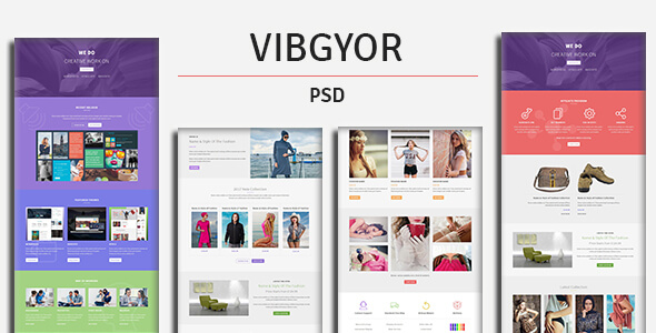 VIBGYOR - PSD Template