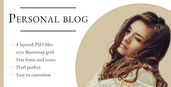 Lisa Doe - Personal Blog PSD Template