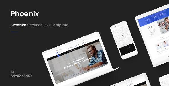 Phoenix - Services PSD Template