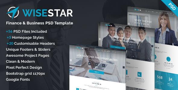 WiseStar - Finance & Business PSD Template