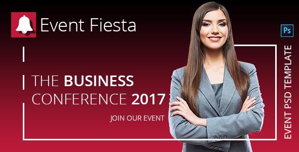 Event Fiesta - Event Management PSD Template