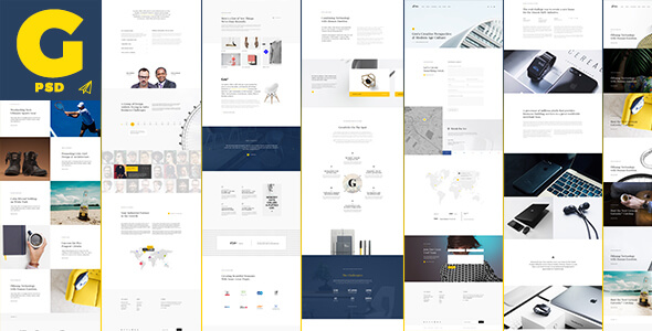 Gro - Creative and Clean PSD Template