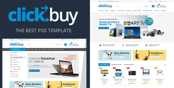 Clickbuy – Digital Ecommerce PSD Template