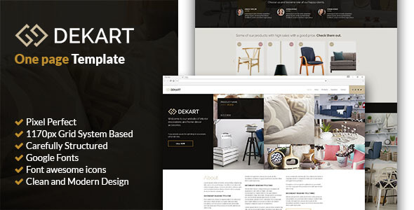 Dekart - Home Decor PSD Template