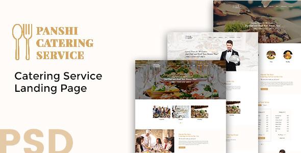 Panshi - Catering Service PSD Template