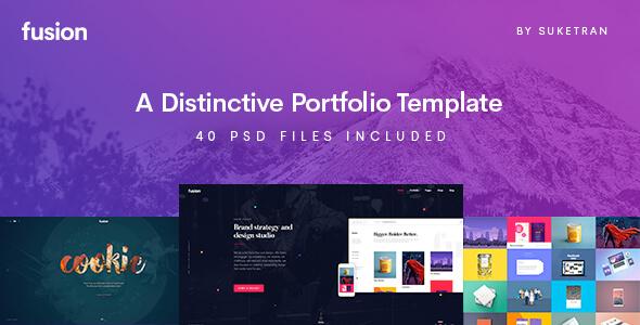 Fusion - A Distinctive Portfolio Template