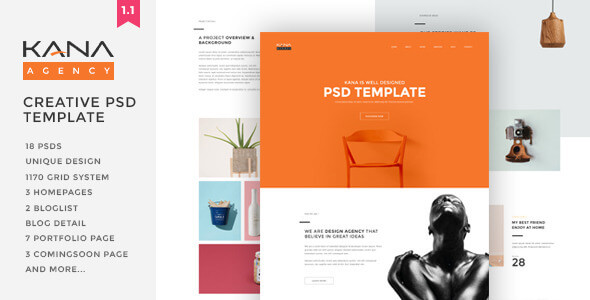 Kana - Creative Agency Psd Template