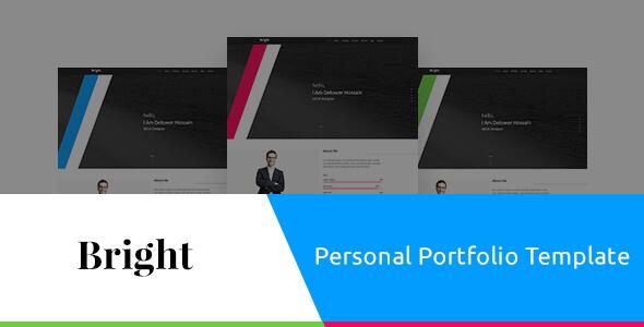 Bright Personal Portfolio PSD Template