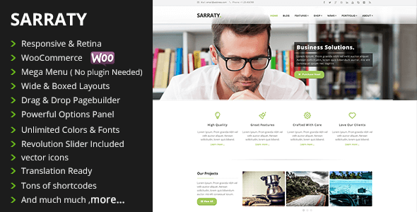 Sarraty Business - Business Theme