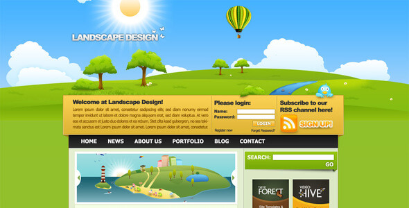 Landscape Design Drawn Style Template