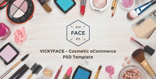 VickyFace - Ecommerce PSD Template