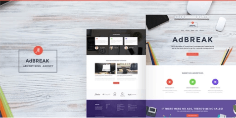 AdBreak - Advertising Company WordPress Theme