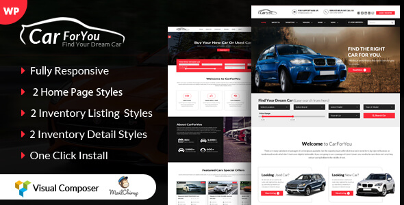 CarForYou - Responsive Car Dealer WordPress Theme