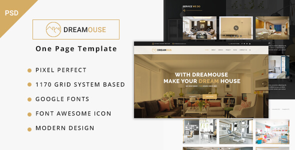 Dreamouse - Interior Design, Decor & PSD Template