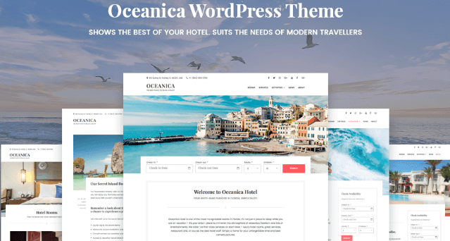 Oceanica - Hotel Booking WordPress Theme WordPress Theme