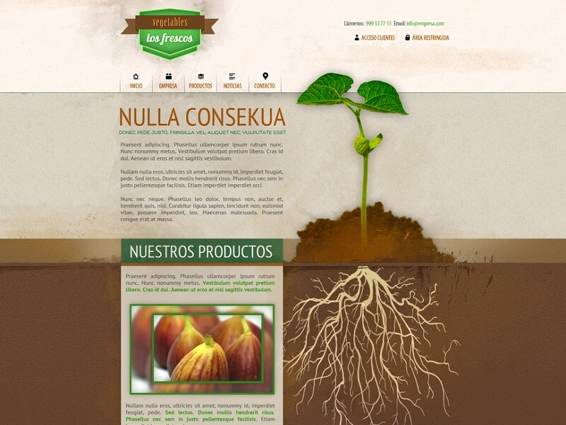 PSD Agricultural Website Template