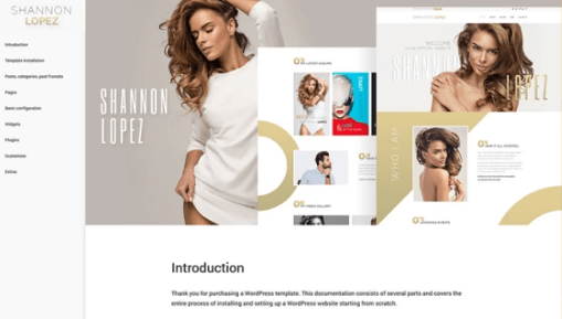Shannon Lopez - Celebrity WordPress Theme