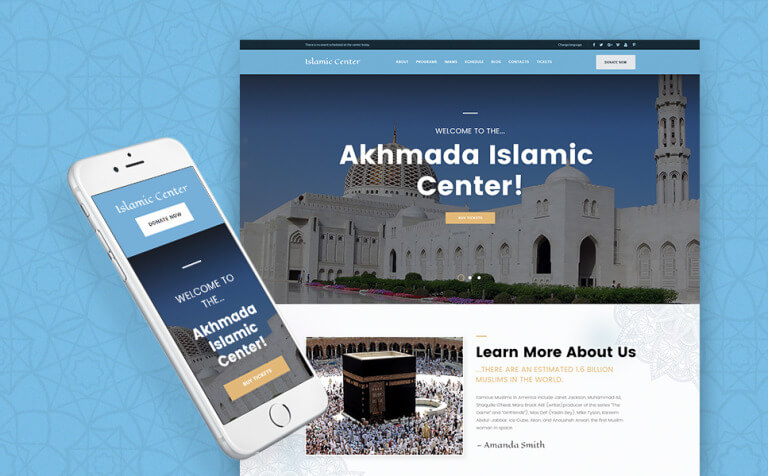 Akhmada - Islamic Center WordPress Theme