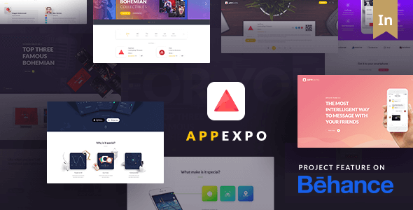 App Expo - An Interactive Theme for App Showcase