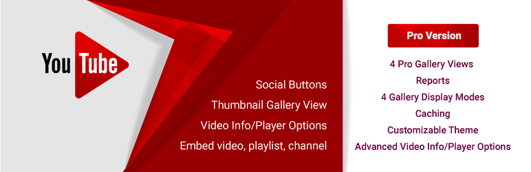 YouTube WD – Youtube Player and Gallery for WordPress
