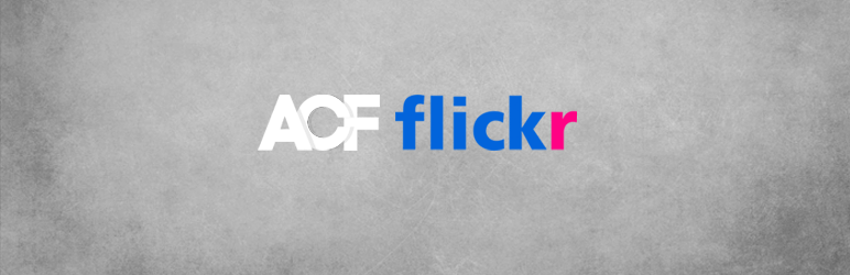Flickr field for Advanced Custom Fields
