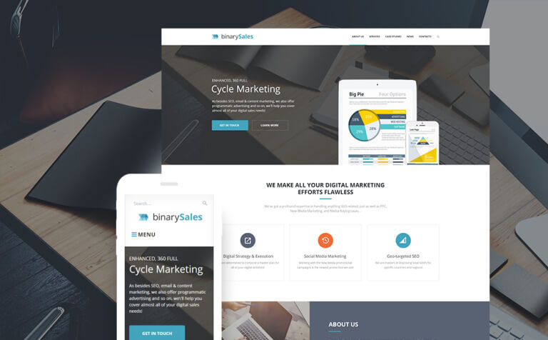 BinarySales - SEO & Digital Marketing WordPress Theme