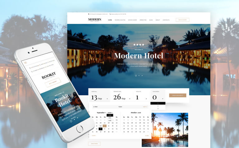 Bookit - Small Hotel WordPress Theme
